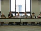 Round table discussants Olenka Bilash, Ghil'ad Zuckermann, Nicholas Ostler, Tjeerd De Graaf, Sachiyo Fujita-Round, Xu Feng